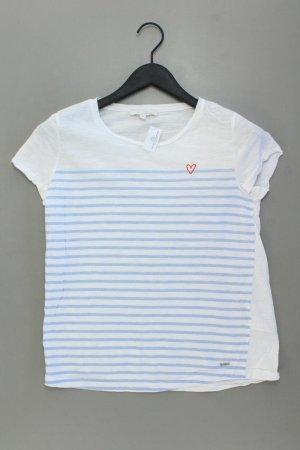 Tom Tailor Ringelshirt Größe XS gestreift Kurzarm weiß aus Baumwolle