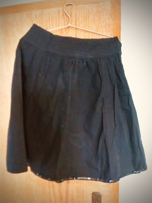 Tom Tailor Miniskirt black cotton