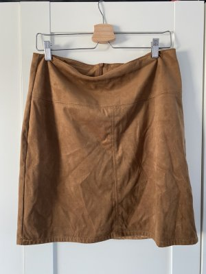 Tom Tailor Faux Leather Skirt brown polyester