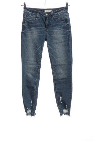 Tom Tailor Röhrenjeans blau Street-Fashion-Look