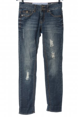 Tom Tailor Jeansy rurki niebieski W stylu casual