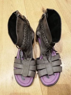 Tom Tailor Roman Sandals grey-dark grey