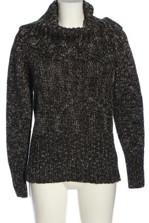 Tom Tailor Rollkragenpullover schwarz-weiß meliert Casual-Look