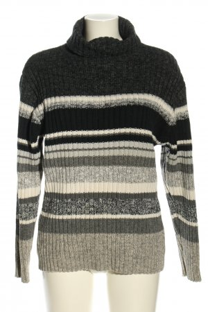 Tom Tailor Turtleneck Sweater striped pattern casual look