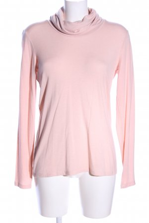 Tom Tailor Top con colletto arrotolato rosa stile casual