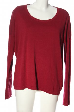 Tom Tailor Rundhalspullover rot Casual-Look