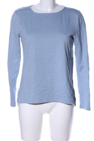 Tom Tailor Rundhalspullover blau-weiß Punktemuster Casual-Look