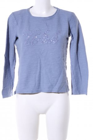 Tom Tailor Crewneck Sweater blue printed lettering casual look