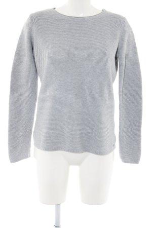 Tom Tailor Maglione girocollo grigio chiaro puntinato stile casual