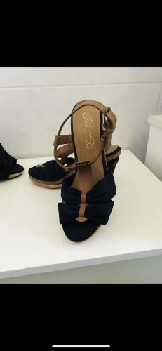 Tom Tailor Denim Plateauzool sandalen donkerblauw