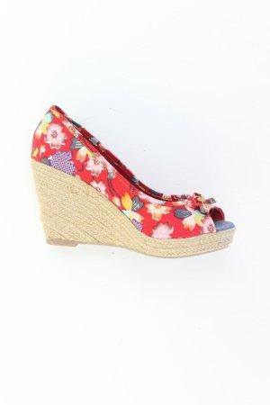 Tom Tailor Sandaletten mit Keilabsatz Größe 39 mit Blumenmuster neuwertig mehrfarbig