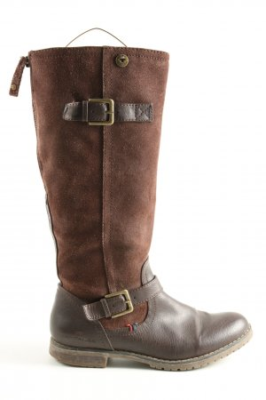 Tom Tailor Schaftstiefel braun Casual-Look