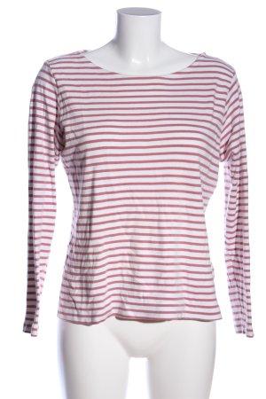 Tom Tailor Schlupf-Bluse pink-weiß Streifenmuster Casual-Look