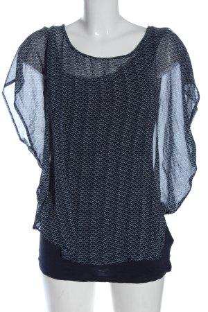 Tom Tailor Schlupf-Bluse blau-weiß Business-Look