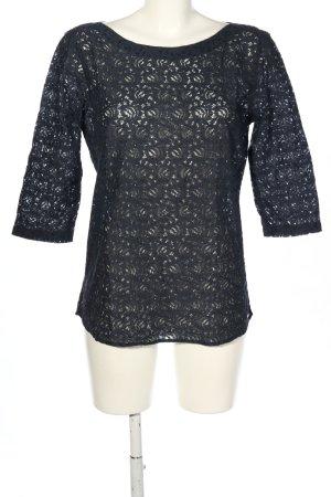 Tom Tailor Schlupf-Bluse schwarz Casual-Look
