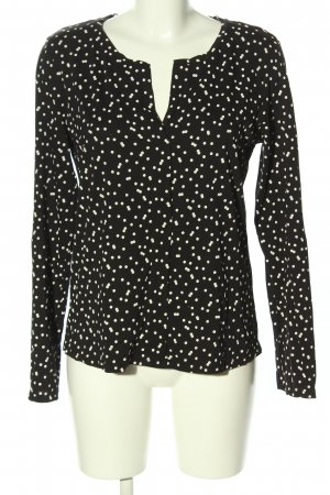 Tom Tailor Schlupf-Bluse schwarz-weiß Punktemuster Casual-Look