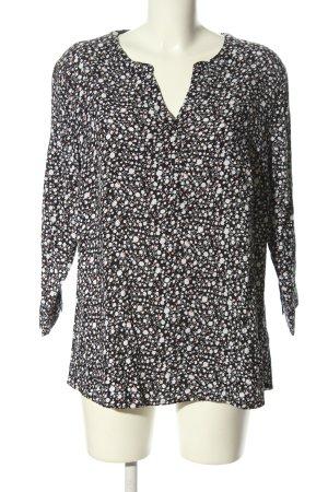 Tom Tailor Slip-over blouse zwart-wit volledige print casual uitstraling