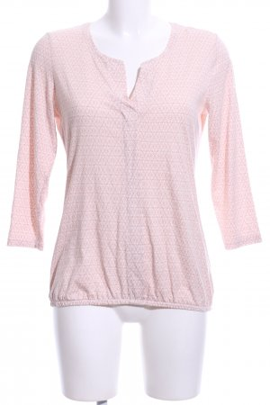 Tom Tailor Schlupf-Bluse pink-wollweiß Allover-Druck Casual-Look