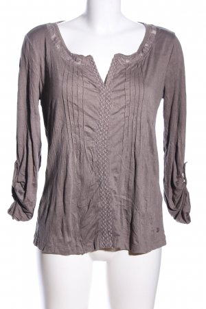 Tom Tailor Schlupf-Bluse braun Casual-Look