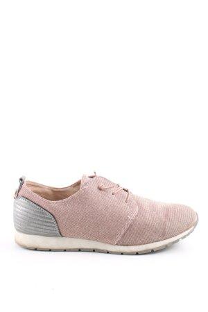 Tom Tailor Schnürschuhe pink-silberfarben sportlicher Stil