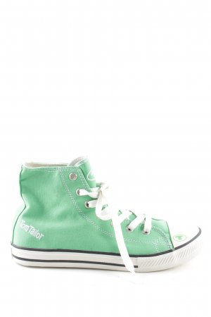 Tom Tailor Schnürsneaker grün-weiß Schriftzug gedruckt Casual-Look