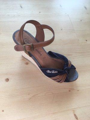 Tom Tailor Schuhe Größe 39 blau Keilabsatz