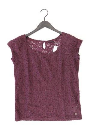 Tom Tailor Shirt mit Spitze Größe S Kurzarm lila aus Baumwolle