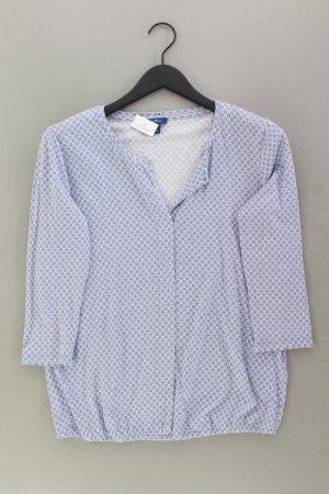 Tom Tailor Shirt mit V-Ausschnitt Größe M 3/4 Ärmel blau aus Baumwolle