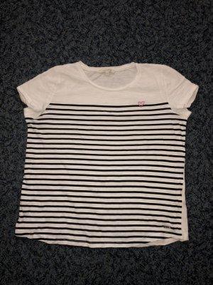 Tom Tailor Shirt weiß/blau gestreift M