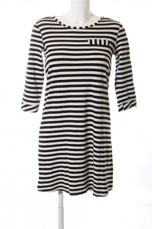 Tom Tailor Shirt Dress black-natural white striped pattern casual look