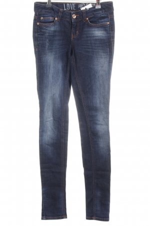 Tom Tailor Skinny Jeans dunkelblau-neonorange Casual-Look