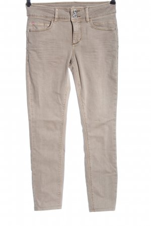 Tom Tailor Dopasowane jeansy kremowy W stylu casual