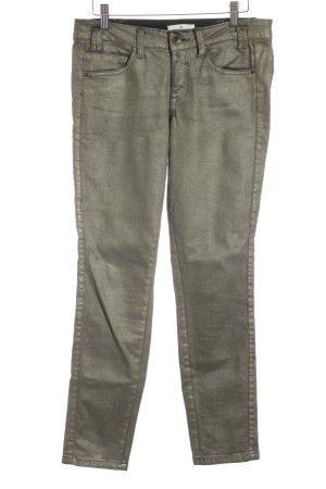 Tom Tailor Slim Jeans goldfarben Metallic-Optik