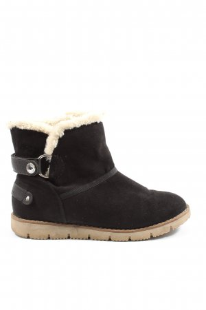 Tom Tailor Slouch Booties black-natural white casual look