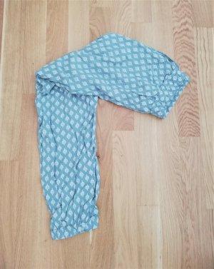 Tom Tailor Pantalón estilo Harem turquesa-blanco Viscosa