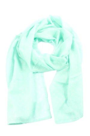 Tom Tailor Écharpe d'été turquoise-blanc imprimé allover