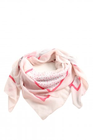 Tom Tailor Sommerschal pink-wollweiß Mustermix Casual-Look