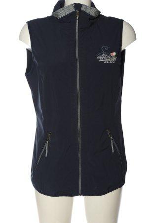 Tom Tailor Sportweste blau Schriftzug gedruckt Casual-Look