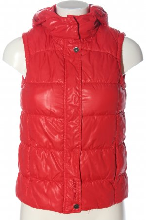 Tom Tailor Sportvest rood quilten patroon casual uitstraling