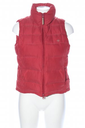 Tom Tailor Quilted Gilet red quilting pattern casual look
