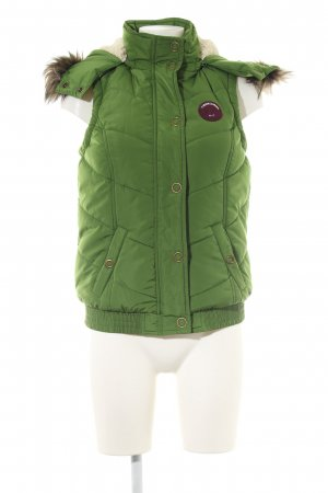 Tom Tailor Steppweste grün Steppmuster Casual-Look