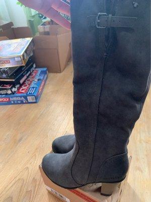 Tom Tailor Laarzen met hak antraciet-grijs