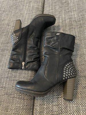 Tom Tailor Botas deslizantes negro-color plata