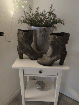 Tom Tailor Korte laarzen grijs-taupe