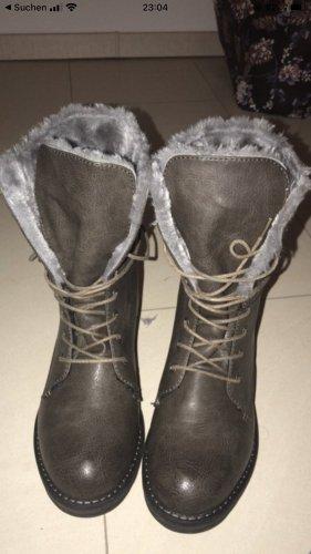 Tom Tailor Botas con cordones marrón grisáceo-gris
