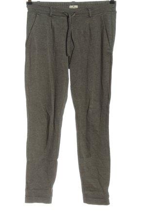 Tom Tailor Pantalone jersey grigio chiaro puntinato stile casual