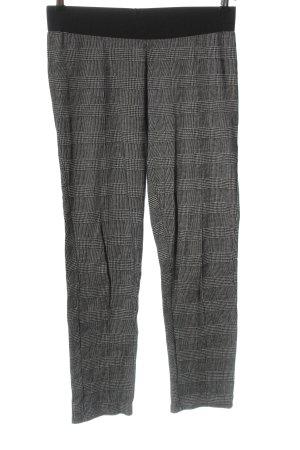 Tom Tailor Pantalone jersey crema-nero motivo a quadri stile professionale