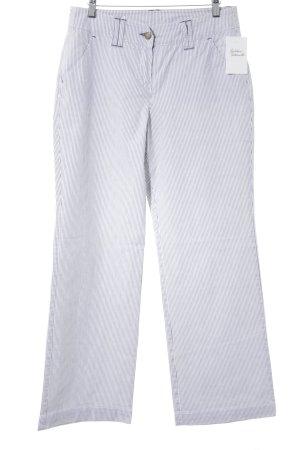 Tom Tailor Stoffhose weiß-schwarz Streifenmuster Casual-Look