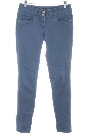 Tom Tailor Stretchhose dunkelblau Casual-Look