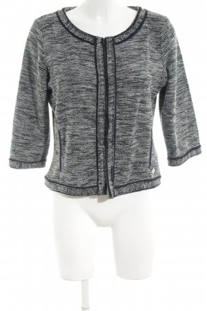 Tom Tailor Strick Cardigan hellgrau-schwarz meliert Casual-Look